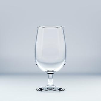 Realistyczny szablon pustego przezroczystego szkła. ilustracja 3d.
