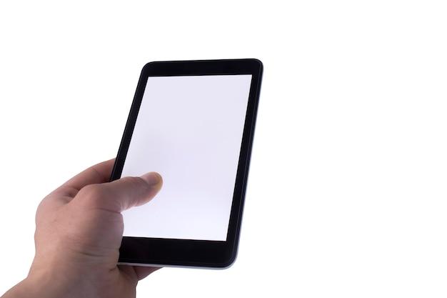 Ręce mężczyzny, trzymając smartfon