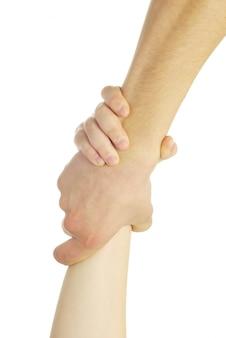 Ręce na białym tle