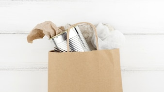 Recycle concept with paper bag