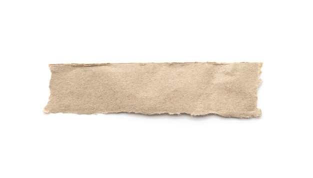 Recycled paper craft stick na białym tle.