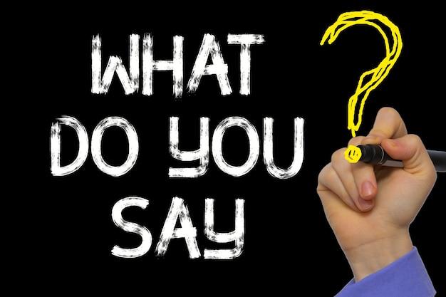 Ręczne pisanie tekstu: co mówisz?
