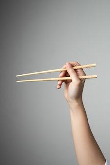 Ręcznie chopstick azjatycki japoński chiński styl żywności tradycyjnej