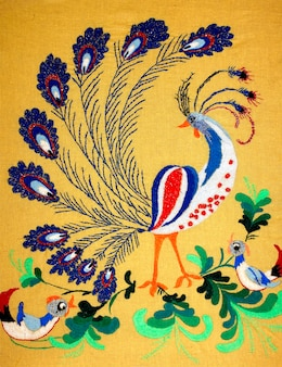 Ręcznie haftowana sztuka ludowa i rzemiosło
