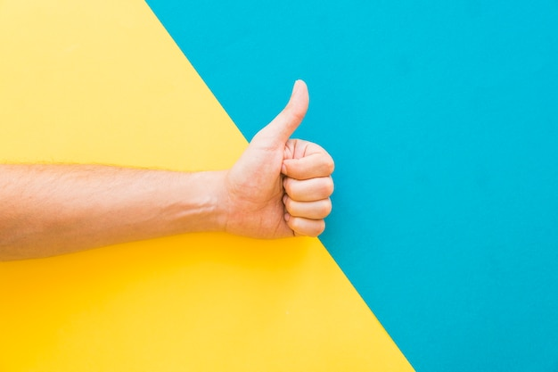 Ręcznie kciuki gest
