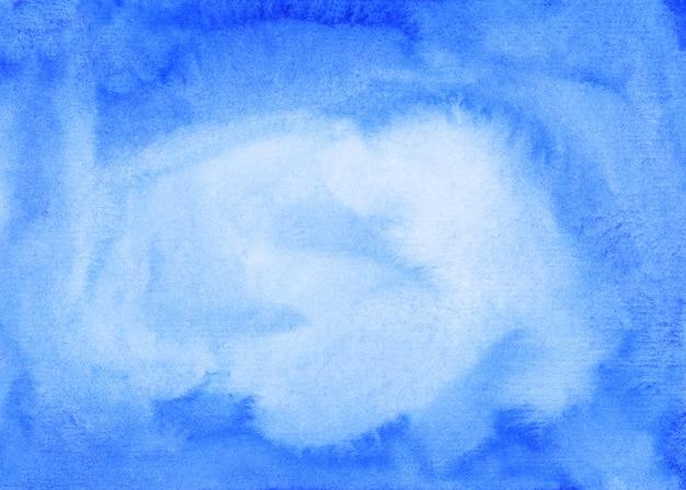 Ręcznie malowane akwarela niebieskie tło tekstura