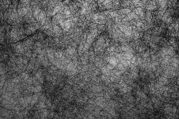 Ręcznie narysować streszczenie tło czarne linie włókna