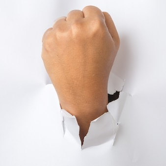 Ręcznie przebijając papier