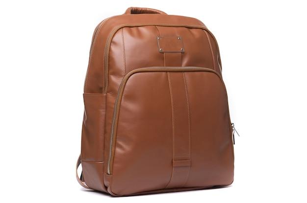 Ręcznie robiony skórzany plecak damski w kolorze brązowym