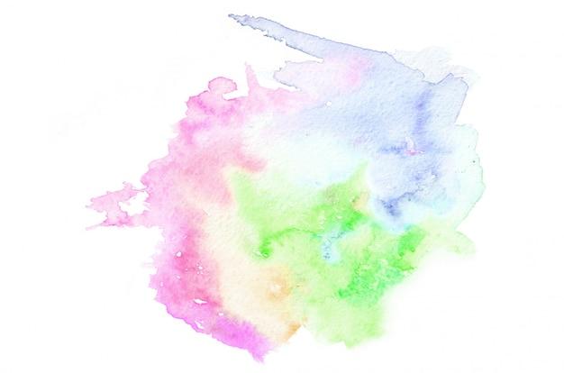 Ręcznie rysowane akwarela kształt w ciepłych kolorach. kreatywnie malujący tło, ręcznie robiona dekoracja