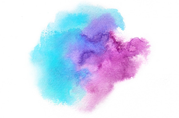 Ręcznie rysowane akwarela kształt w zimnych kolorach dla swojego projektu. kreatywne tło malowane, ręcznie robiona dekoracja