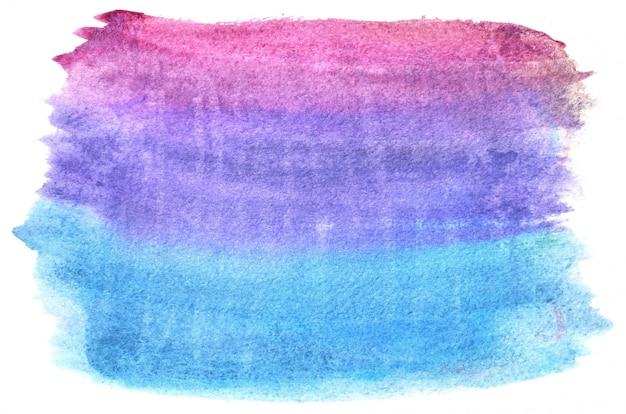Ręcznie rysowane akwarela kształt w zimnych kolorach. kreatywnie malowane tło, ręcznie robione dekory