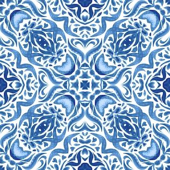 Ręcznie rysowane dachówka bezszwowa abstrakcyjna teksturowana adamaszkowa ozdobna akwarela