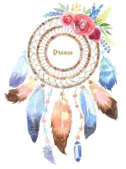 Ręcznie rysowane ilustracja łapacz snów