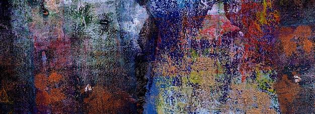 Ręcznie rysowane kolorowy obraz abstrakcyjna sztuka panorama tło kolory tekstury projekt ilustracja