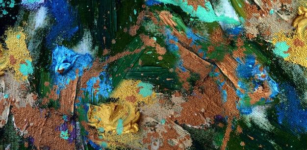 Ręcznie rysowane kolorowy obraz abstrakcyjna sztuka panorama tło kolory tekstury