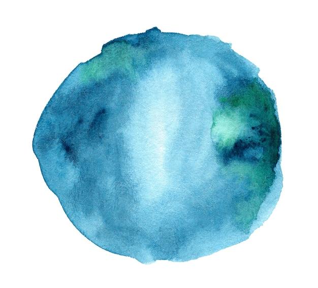Ręcznie rysowane niebieski kształt akwareli do projektowania