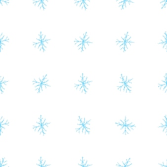 Ręcznie rysowane niebieskie płatki śniegu boże narodzenie wzór. subtelne latające płatki śniegu. ciekawa ręcznie rysowana kreda nakładka śniegu. cenna dekoracja świąteczna.