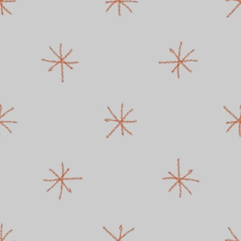 Ręcznie rysowane płatki śniegu boże narodzenie bezszwowe wzór. subtelne latające płatki śniegu na tle płatki śniegu kredą. artystyczna kreda handdrawn nakładka na śnieg. przyjemna dekoracja świąteczna.