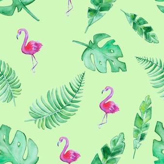 Ręcznie rysowane tropikalny wzór