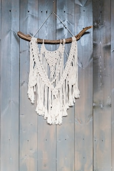 Ręcznie wykonana stylowa bawełniana makrama.