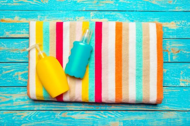 Ręcznik plażowy lato na zielono