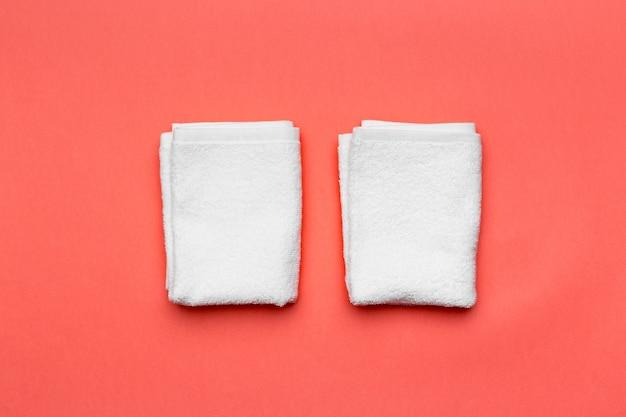 Ręczniki spa, widok z góry