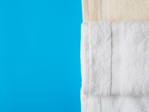 Ręczniki z widokiem z góry z miejscem na kopię