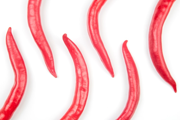 Red hot chili peppers. żywność roślinna witaminowa