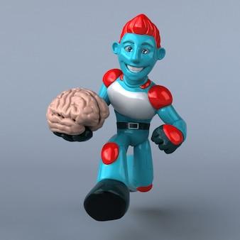 Red robot - postać 3d