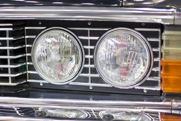 Reflektor samochodowy w stylu retro