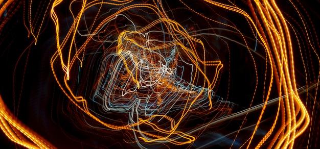 Reflektory samochodowe z długim czasem naświetlania. abstrakcyjne tło.