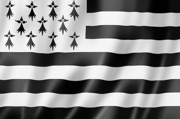 Region bretagne - gwen ha du - flag, francja