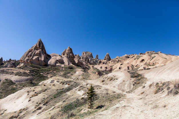 Region kapadocji stare górskie tła