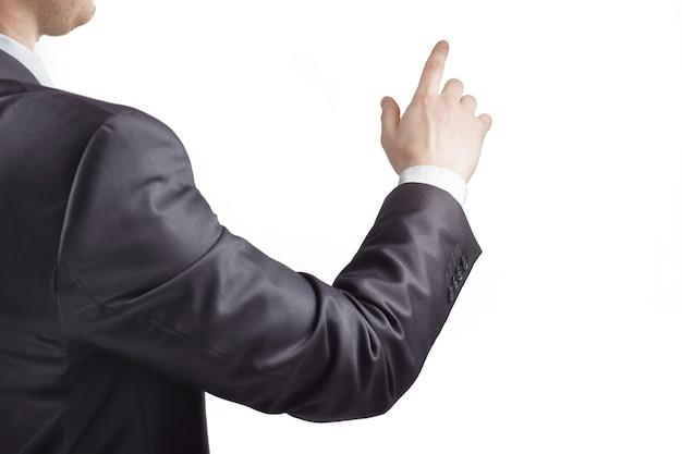 Ręka biznesmena, wskazując