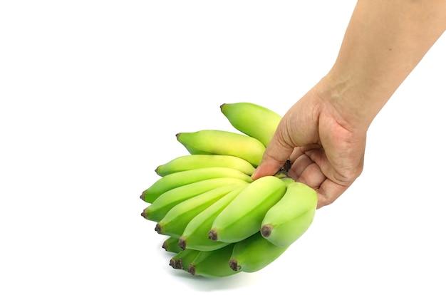 Ręka chwytająca banana pisang awak, kluai nam wa
