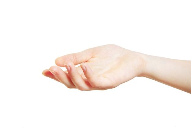 """Ręka na background """"białym tle"""