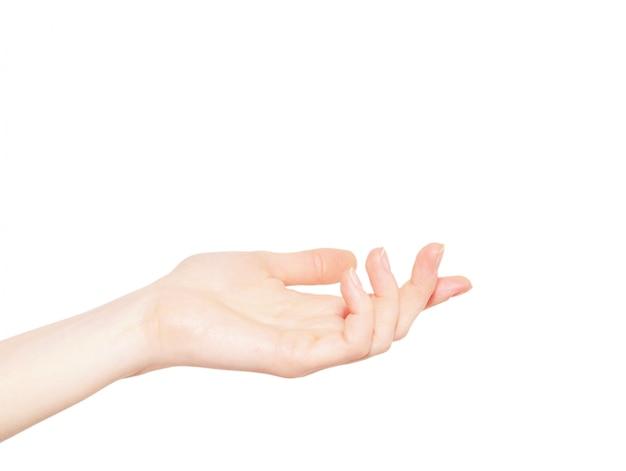 Ręka na białym tle
