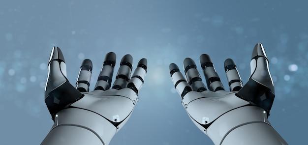 Ręka robota cyborg - renderowania 3d