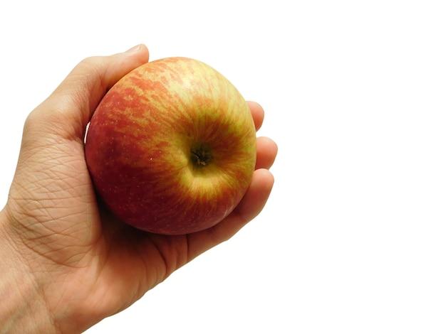 Ręka trzyma jabłko