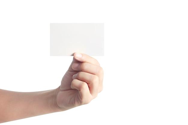 Ręka trzyma wirtualną kartę ze swoim