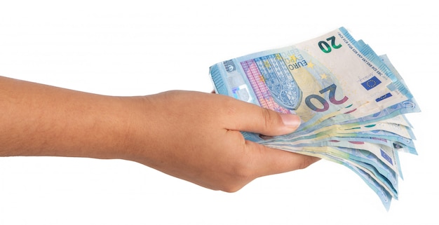 Ręka z banknotami