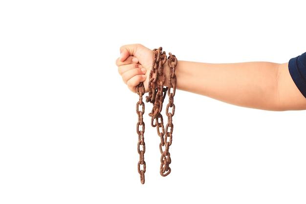 Ręka z łańcuchem