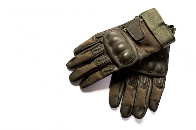 Rękawiczki odizolowywać na bielu