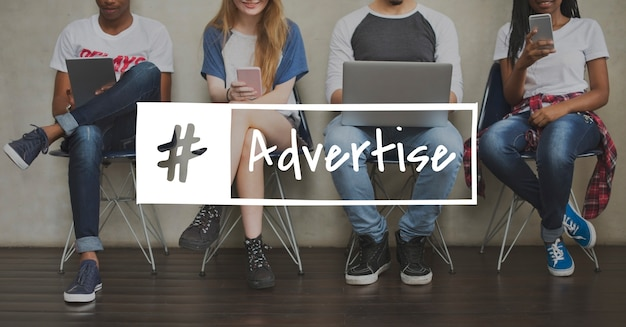 Reklama advetise ikona reklamy konsumenckiej