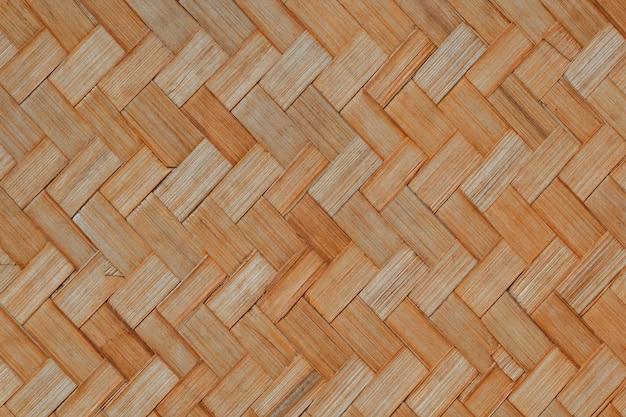 Rękodzieło z rattanu tło wzory bambusowe rękodzieło.