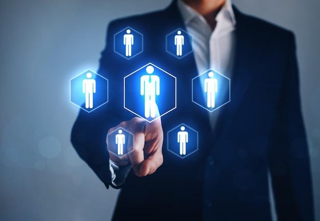Rekrutacja, crm i biznes zarządzania zasobami ludzkimi.
