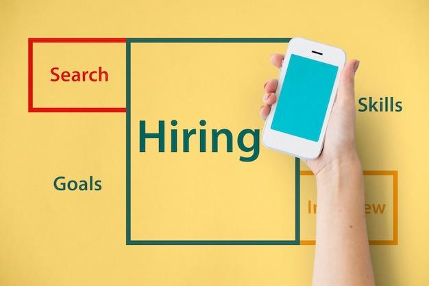Rekrutacja praca kariera zatrudnianie wakat słowo