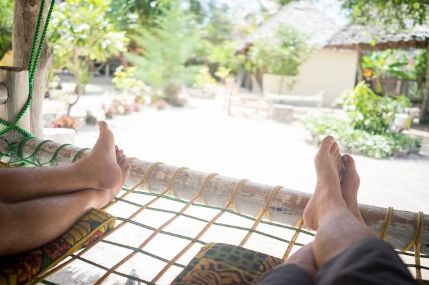 Relaks Na Hamaku Premium Zdjęcia