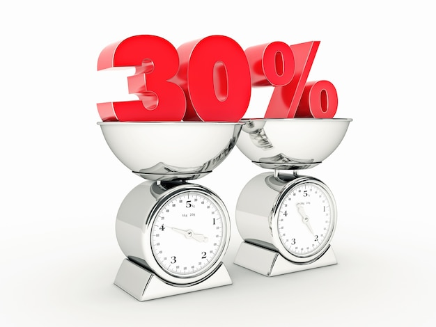 Rendering 3d z 30-procentową zniżką